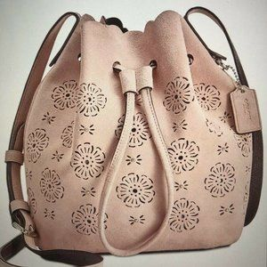 COACH Bucket Bag With Cut Out Tea Rose 25193